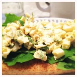 Puttin On The Ritz Egg Salad Sandwiches