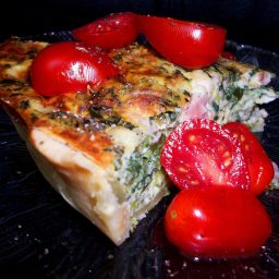 Quiche - Spinach and Bacon