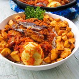 Quick and Easy Roasted Fish Stew On Rice