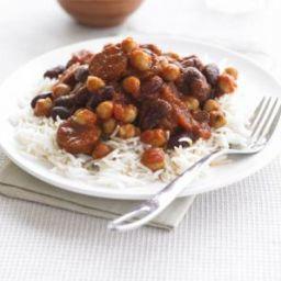 Quick bean and chorizo chilli