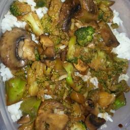 Quick Mushroom & Broccoli Stir fry
