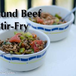 Quick Paleo Ground Beef Stir-Fry