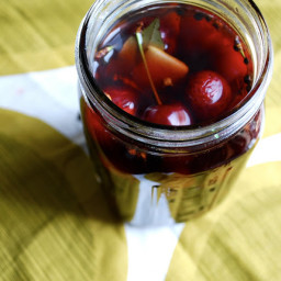 Quick Pickled Cherries