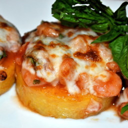 Quick Shrimp and Polenta Appetizers and Weight Watchers PointsPlus