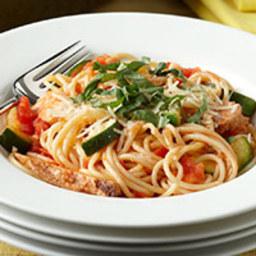 Quick Chicken and Veggie Spaghetti Skillet
