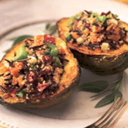 Quinoa and Wild Rice Stuffed Squash