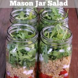 Quinoa, Goat Cheese, and Arugula Mason Jar Salad