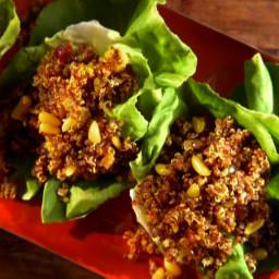 Quinoa Pilaf in Lettuce Cups