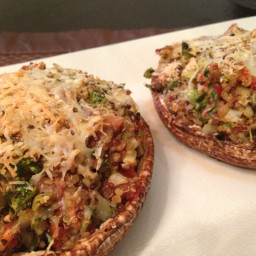 Quinoa stuffed portaello mushrooms