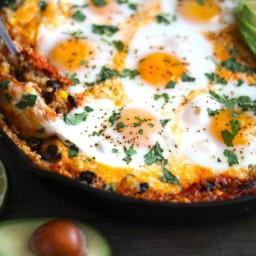 Quinoa and Egg Enchilada Skillet