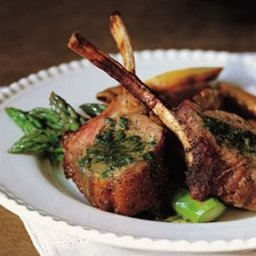 Rack of Lamb with Mint Sauce