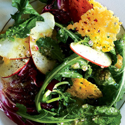 Radicchio and Apple Salad with Parmesan Crisps
