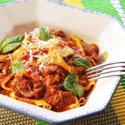 Ragú Napoletano (Neapolitan-Style Italian Meat Sauce with Pork, Beef, and S