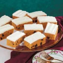 Raisin Pumpkin Bars Recipe