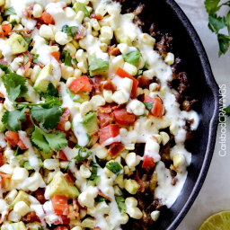 Ranch Taco Dip with Fresh Corn Avocado Bacon Salsa