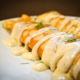 Randi's Ham & Cheese Crepes (meatless)*