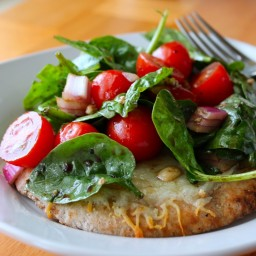 Randi's Puff Pastry Salad Pizza (meatless) *