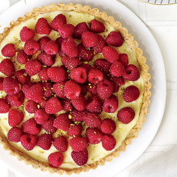 Raspberry Tart with a Pistachio Crust