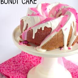 Raspberry Vanilla Pink Ombre Bundt Cake