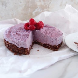 Raw Raspberry Chocolate Freezer Cake