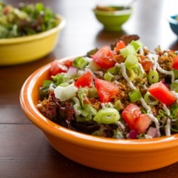 Recipes By Course Salad Meat and Seafood Taco Salad Raw Taco Salad