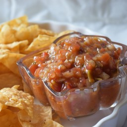Recipe Homemade fresh tomatoes Salsa