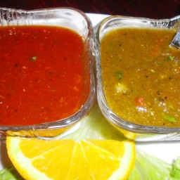 Red And Green Fire Salsa