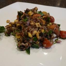 Red Quinoa ABC (avocado, black bean, corn) Salad