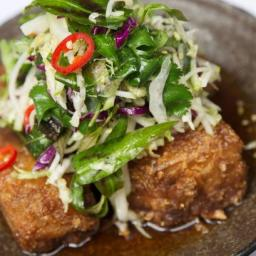 Red Spice Road's pork belly with chilli caramel and apple slaw