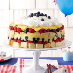 Red, White and Blue Berry Trifle Recipe
