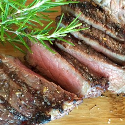Red Wine Rosemary Marinated Steaks