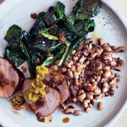 Redeye-Glazed Pork Tenderloin with Black-Eyed Peas