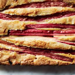 Rhubarb-Almond Cake