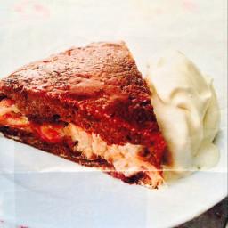 Rhubarb and Ameretto Cake