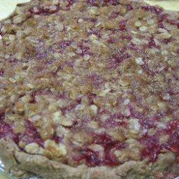 Rhubarb-Raspberry Pie