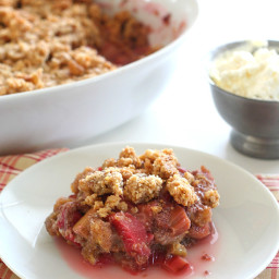 Rhubarb Crisp – Low Carb and Gluten-Free