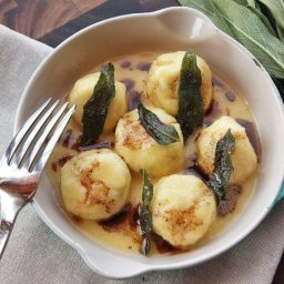 Ricotta and Black Pepper Gnudi With Sage and Brown Butter
