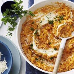 Risotto mit Tomate und Parmesan