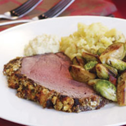 Roast Beef with a Classic Breadcrumb, Garlic and Herb Crust