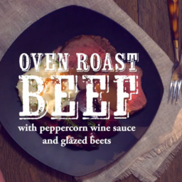 Roast Beef with Peppercorn Wine Sauce