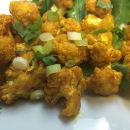 Roast Cauliflower with Turmeric