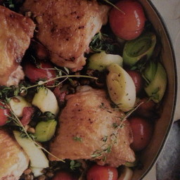 Roast Chicken, Tomato and Lentil One Pot