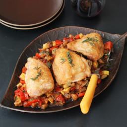 Roast Chicken with Ratatouille