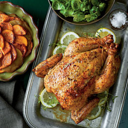 Roast Chicken with Sweet Potatoes and Apples
