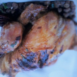 Roast Cinnamon Squab Chicken With Lentils