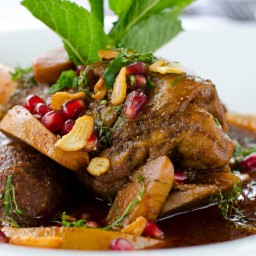 Roast Lamb with Pomegranates