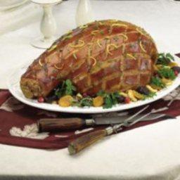 Roast Leg of Pork with Glazed Dried Fruits