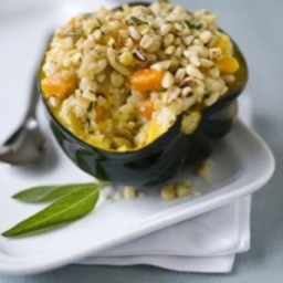 Roasted Acorn Squash with Squash Risotto