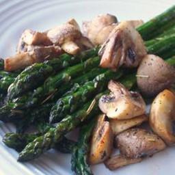 Roasted Asparagus and Mushrooms