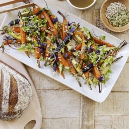 Roasted Baby Carrot and Avocado Salad
